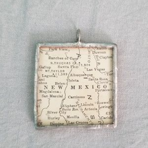 Handmade Sterling Silver NM Pendant